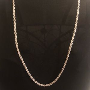 Silver Rope Chain necklace for men.